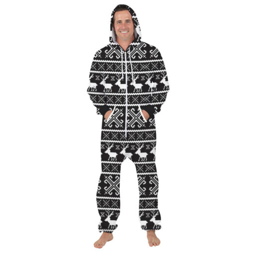 Deer Hooded Matching Pajamas for Couple 4