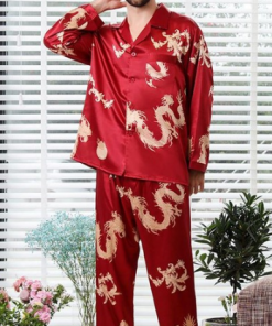 Adorable Dragon Themed Long Sleeve Pajama Set 12