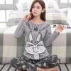 Bunny Themed Long Sleeve Couple Pyjama Set 5