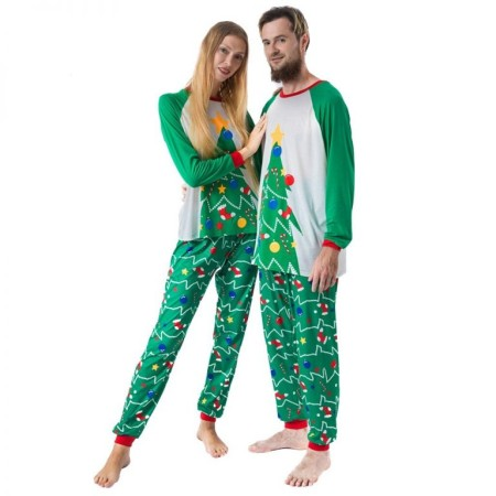 His and hers matching couple pajamas