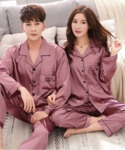 Pink Matching Couple Pajamas