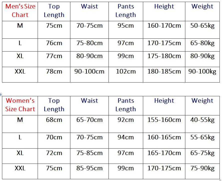 TrulyPajamas Size Chart