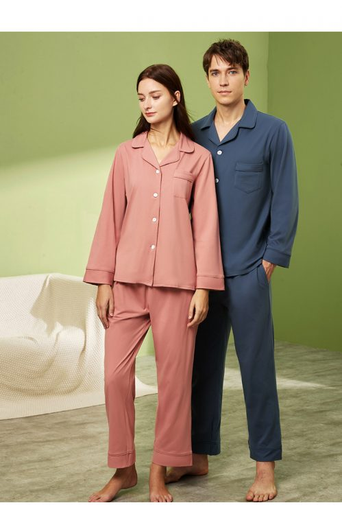 Long sleeve couple sleepwear 1