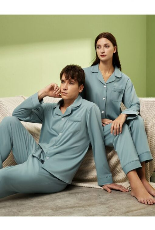 Long sleeve couple sleepwear 11