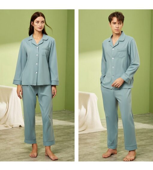 Long sleeve couple sleepwear 10