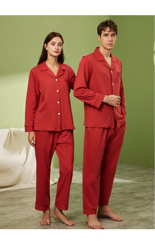 Long sleeve couple sleepwear 12