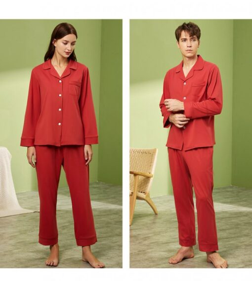 Long sleeve couple sleepwear 13