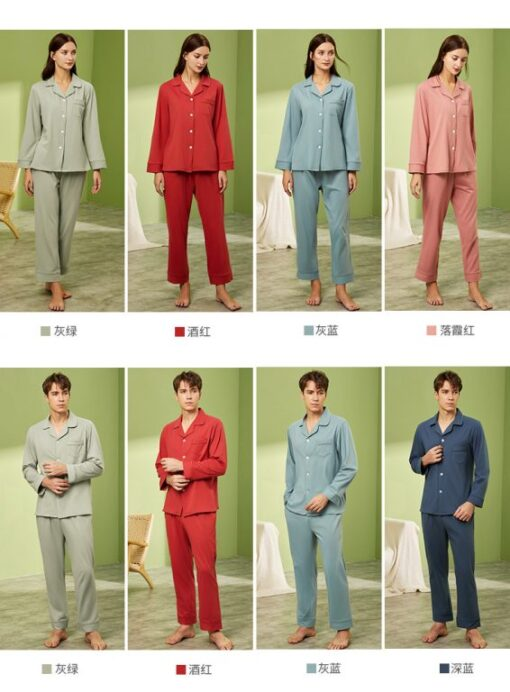 Long sleeve couple sleepwear 16