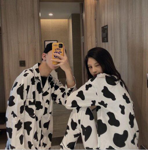 Cow Print Pajama Set 2