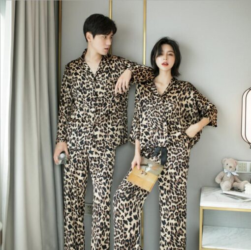Leopard Print Couple Pajamas Set 2