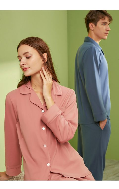 Long sleeve couple sleepwear 2