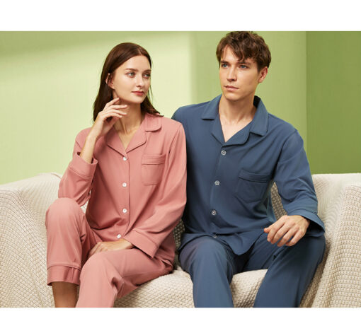 Long sleeve couple sleepwear 3