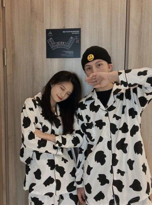 Cow Print Pajama Set 3