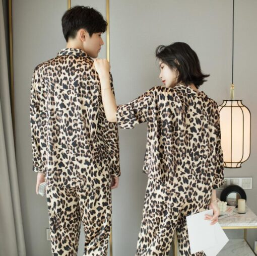 Leopard Print Couple Pajamas Set 4