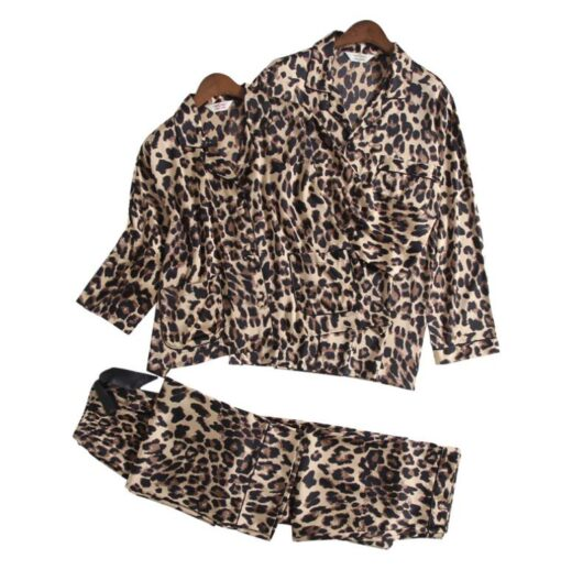 Leopard Print Couple Pajamas Set 5