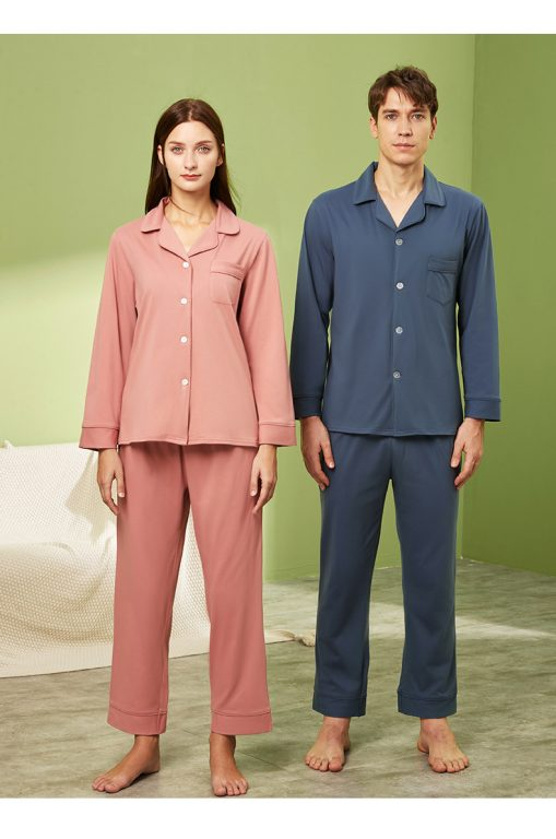 Long sleeve couple sleepwear 5