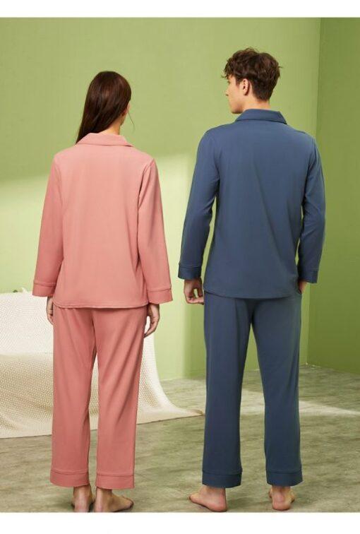 Long sleeve couple sleepwear 6