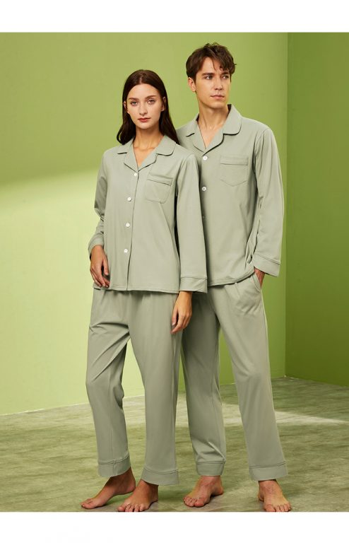 Long sleeve couple sleepwear 7