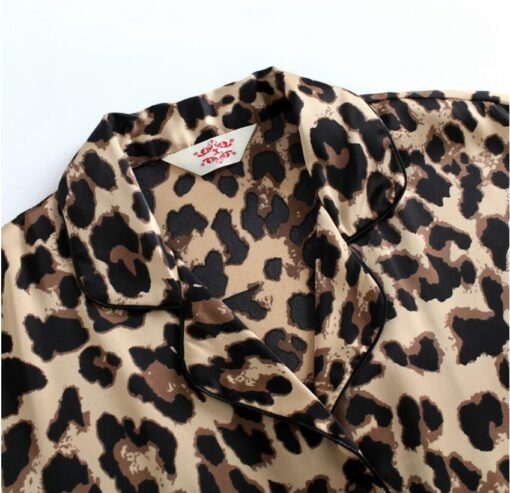 Leopard Print Couple Pajamas Set 8