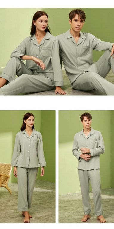 Long sleeve couple sleepwear 8
