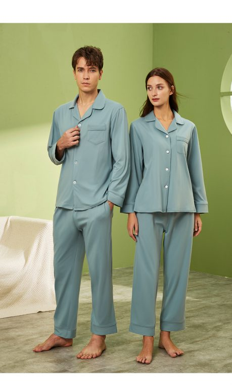 Long sleeve couple sleepwear 9
